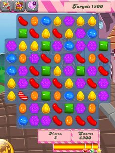 Candy Crush Saga App by King . com Limited - Elimination Puzzle App.  This game is so addictive!!