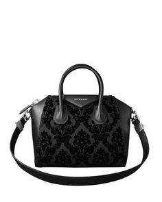 800d928a282 Antigona Devore Velvet Satchel Bag, Black by Givenchy at Neiman Marcus.  Givenchy Handbags,