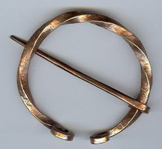 Twisted Square Stock Copper Penannular By Brooches, Penannulars And Kilt  Pins. $55.00. Great