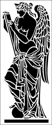 Literature stencil from The Stencil Library ARCHITECTURE range. Bird Stencil, Damask Stencil, Stencil Patterns, Faux Painting, Stencil Painting, Cultural Patterns, Stencils Online, Airbrush Tattoo, Library Architecture