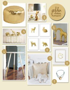 Baby animals have been a staple in baby rooms for a while now and with the growing trend of dipping everything in gold, it's no surprise that golden baby animals are making their way into nursery decor!