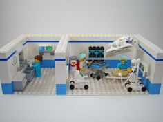 Operating Room :: My LEGO creations. Operating room for Series 6 Surgeon minifig. Legos, Lego Hospital, Operating Room Nurse, Interlocking Bricks, Lego Furniture, Operation, Lego Storage, Lego Worlds, Lego Design
