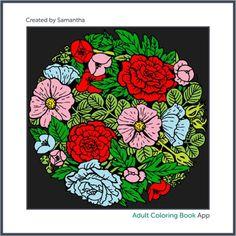 #adultcoloring #adultcoloringbook #adultcoloringbookapp #flowerball #bouquet #flowerbouquet #flowers