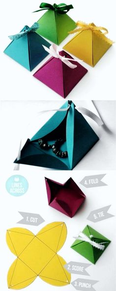 Caixinha | fold and fold again | Pinterest | Cajas, Sobres de papel ...