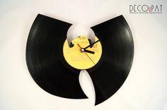 """Zegar+z+płyty+winylowej+""""Wu-Tang""""+w+DECOuPAT+na+DaWanda.com"""
