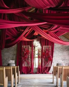 dramatic ceiling draping :: Image Credit: Tasha Seccombe Photography