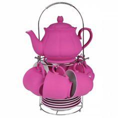 Conjunto de Chá Wonderland Rosa