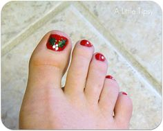 Mistle-toe nail art.