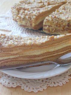 W krainie smaków: Męski pocałunek - przepis nr 1 Polish Desserts, Polish Recipes, Cookie Desserts, Fun Desserts, Cake Recipes, Dessert Recipes, Sweets Cake, Pudding Cake, Piece Of Cakes