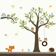 Children Wall Decals Vinyl wall decal Tree with от Modernwalls