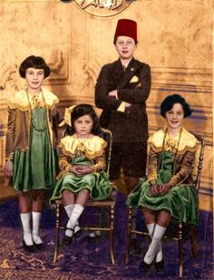 King Farouk of Egypt. Very beautiful picture for the royal family.