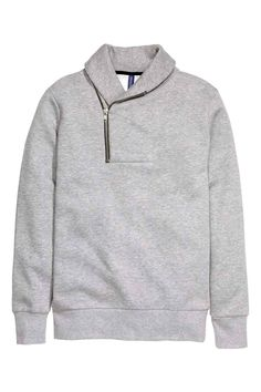 Sudadera con cuello esmoquin | H&M Mens Sweatshirts, Hoodies, Trendy Suits, Winter Wear, Sweater Jacket, Lounge Wear, Kids Fashion, Sweaters For Women, Men Casual