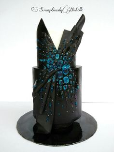 """Another in the series of . """"So, there's gotta be a cake in there someplace"""" . Couture Cakers Collaboration - Black Beauty by Michelle Chan Pretty Cakes, Beautiful Cakes, Amazing Cakes, Cool Cake Designs, Fashion Cakes, Elegant Cakes, Love Cake, Celebration Cakes, Shower Cakes"""