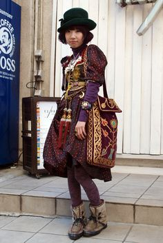 "Japanese street style- ""Dolly Kei"", inspired by medieval Russia. Interesting."