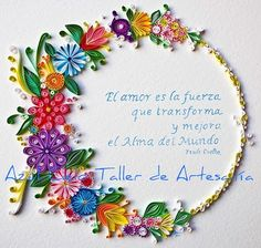 Azul Cielo Taller de Artesania: QUILLING O FILIGRANA EN PAPEL.