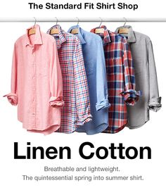 gap 3.29 The Standard Fit Shirt Shop | Linen Cotton