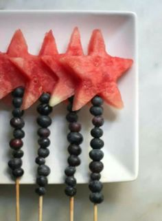 Fruit wands for girls birthday party