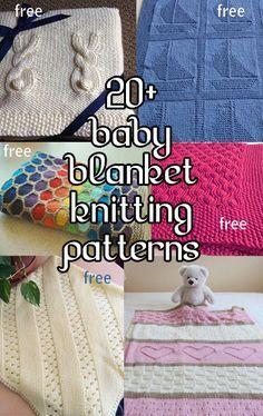 Baby Blanket Knitting Patterns, many free patterns at http://intheloopknitting.com/baby-blanket-knitting-patterns/