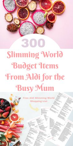 Here are 300 budget Items for busy mums who shop in Aldi and want to follow Slimming World. This Aldi Slimming World Shopping List includes a free printable and an easy and clear way to view low-syn items by Laura at Savings 4 Savvy Mums. #AldiSlimmingWorld #BudgetShoppingList #SlimmingWorldOnABudget