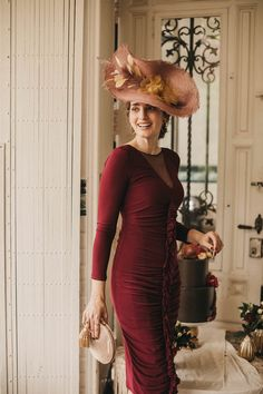 Wedding Planning, High Neck Dress, Spring Summer, Outfit, Dresses, Fashion, Fall Season, Favorite Color, Bordeaux