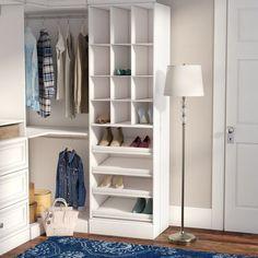 Rebrilliant Belle W Closet System Front Closet, Closet Rod, Closet Shelves, Master Closet, Closet Bedroom, Closet Storage, Closet Organization, Attic Closet, Master Suite