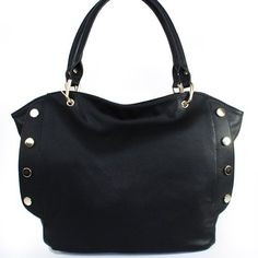 $39.99Amazon.com: New Arrival Large Size Fashion Tote / Golden Round Rivet Studded Embossed Faux Leather Simple Shopper Handbag Purse in Black: Clothing