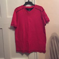 ⬇️♨️Young Men's T-Shirt Young Men's Red T-Shirt. Size L. Worn once.  Perfect for spring and summer. Just needs some ironing! Tops Tees - Short Sleeve
