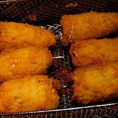Fried Corn On The Cob Recipe, Fried Corn Recipes, Zucchini Bread Recipes, Vegetable Recipes, Seafood Recipes, Cooking Recipes, Corn Dishes, Side Dishes, Corn Cakes