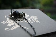 Rough Garnet Pyrite Earrings Gifts under 20 by TheMagiciansCat, $12.00
