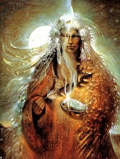 """The shaman is a self-realized person. She discovers the ways of Spirit through her inner awakening."" - Alberto Villoldo Ph.D.  ; Artwork Susan Boulette"