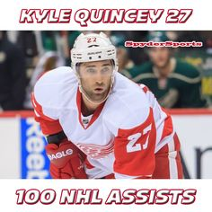 Kyle Quincey Reaches 100 NHL Assists   Spyder Sports Lounge