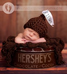 Hershey Kisses Hat by My Simply Sweet Little Boutique $20  www.facebook.com/MSSLB        Photo by: Tandi Keen Photography   http://www.tandikeenphotography.com