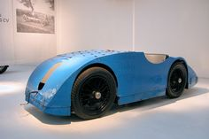 Bugatti 'The Tank' at the Mulhouse museum in France. http://citedelautomobile.com/en/home