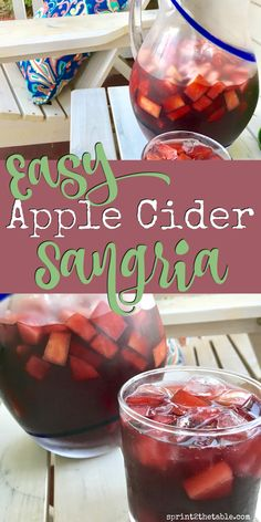 Easy Apple Cider Sangria - not too sweet, yet bursting with fall flavors!