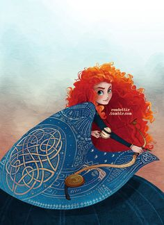 Merida the Brave Disney Pixar, Disney Animation, Disney Magic, Walt Disney, Disney And Dreamworks, Disney Characters, Animation Movies, Disney Princesses, Disney Princess Art