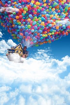 Backdrops of Film Sky Backdrops Balloons Background CM-HG-244-E