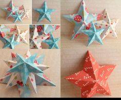 Новогодняя звезда из бумаги своими руками