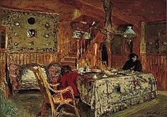 Edouard Vuillard, Denise Natanson and Marcelle Aron in the Summer House at Villerville, Normandy 1910 Edouard Vuillard, Avant Garde Artists, Pierre Bonnard, Impressionist Artists, Post Impressionism, Oil Painting Reproductions, Equine Art, Henri Matisse, French Artists