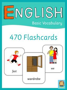 This set has 470 flashcards for your ESL lessons. They are a great visual help for introducing English vocabulary and cover all major topics from adjectives to weather. Visit my store and download the preview for more information.