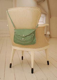Johanna, soft olive green leather purse. so adorable!