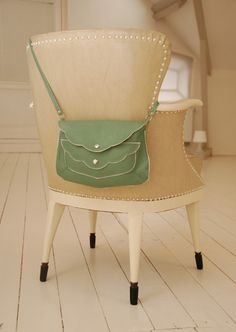 love this soft olive green leather bag