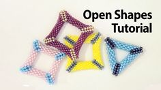 Basic Peyote Tutorial - Peyote open shapes: how to make a holed triangle...