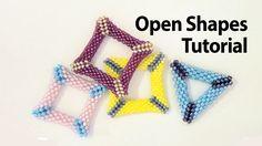 Basic Peyote Tutorial - Peyote open shapes: how to make a holed triangle...