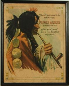 2 Prince Albert Tobacco Indian Chief Signs
