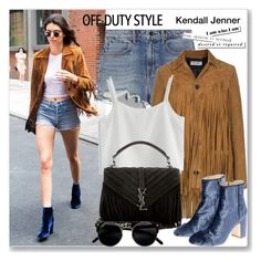 """""""Kendall off duty"""" by jan31 ❤ liked on Polyvore featuring Alexander Wang, Yves Saint Laurent and Chicwish"""