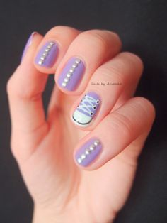 Nails by Arvonka: Converse nechty