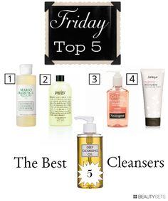 the top 5 best facial cleansers!