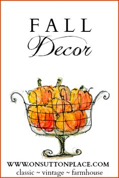 Inspiration, how-to's and ideas for bringing Fall into your home! #Fall #Autumn #Decor #diy