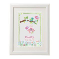 Baby Cross Stitch pattern birth announcement Birthday sampler