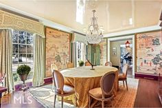 COTE DE TEXAS: The Temple – Is This The Prettiest Fishing Temple in England? Atlanta Homes, Atlanta Buckhead, Danielle Rollins, Georgia Homes For Sale, French Chairs, Open Concept Kitchen, Open Layout, Window Coverings, Window Treatments